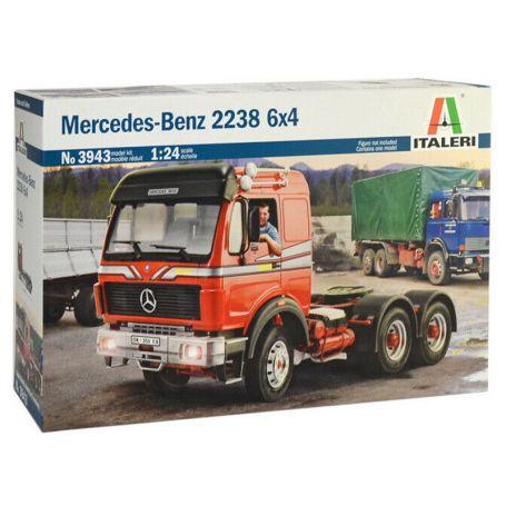 Italeri 3943 - Mercedes-benz 2238 4x6 - échelle 1/24