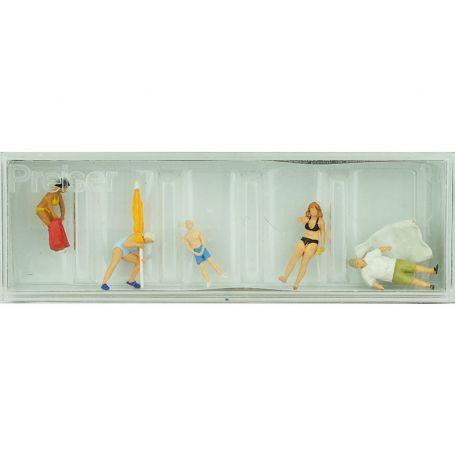 5 personnages à la plage - HO 1/87 - PREISER 10694