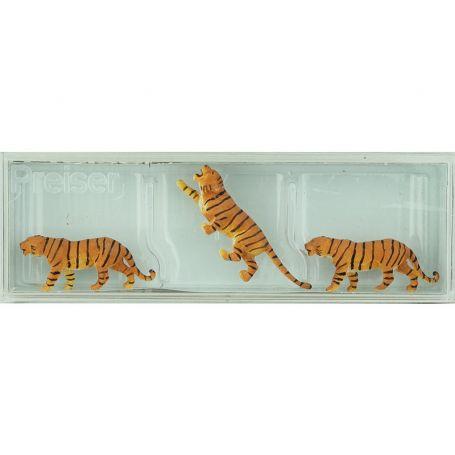 3 tigres échelle HO 1/87 - PREISER 20380