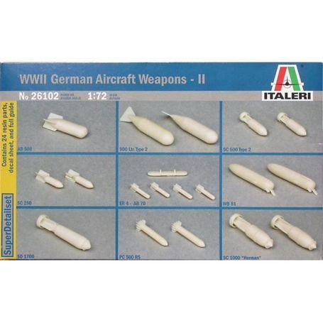 Armements d'avions allemands WWII - échelle 1/72 - ITALERI 1356