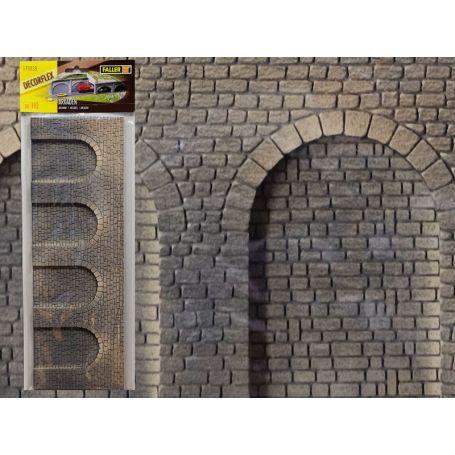 Arcades en pierre de taille decorflex échelle HO - FALLER 170838