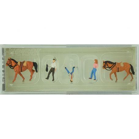 Chevaux et cavaliers échelle HO 1/87 - PREISER 10501