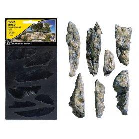 Woodland Scenics C1233 - moule souple rochers de remblais toutes échelles