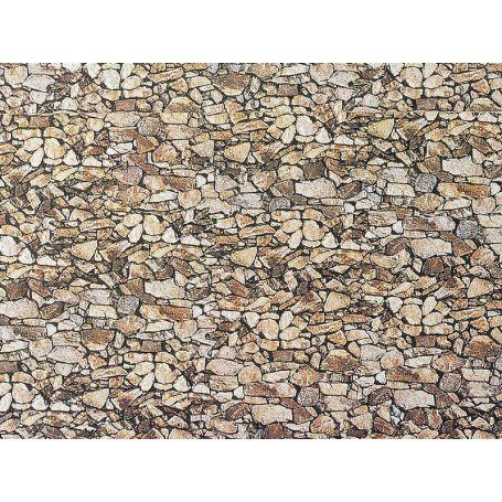 Faller 222562 - Plaque décor - mur de pierres - échelle N